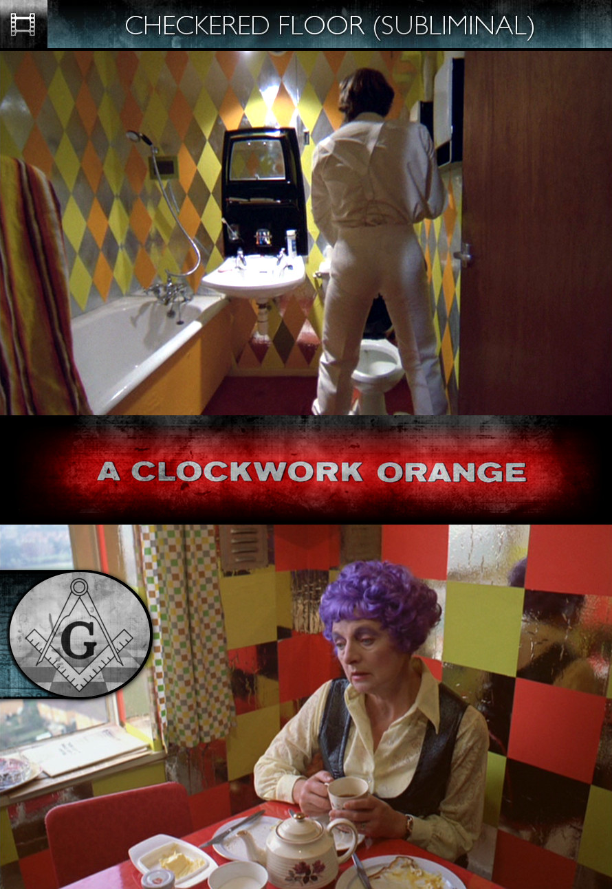 A Clockwork Orange (1971) - Checkered Floor - Subliminal