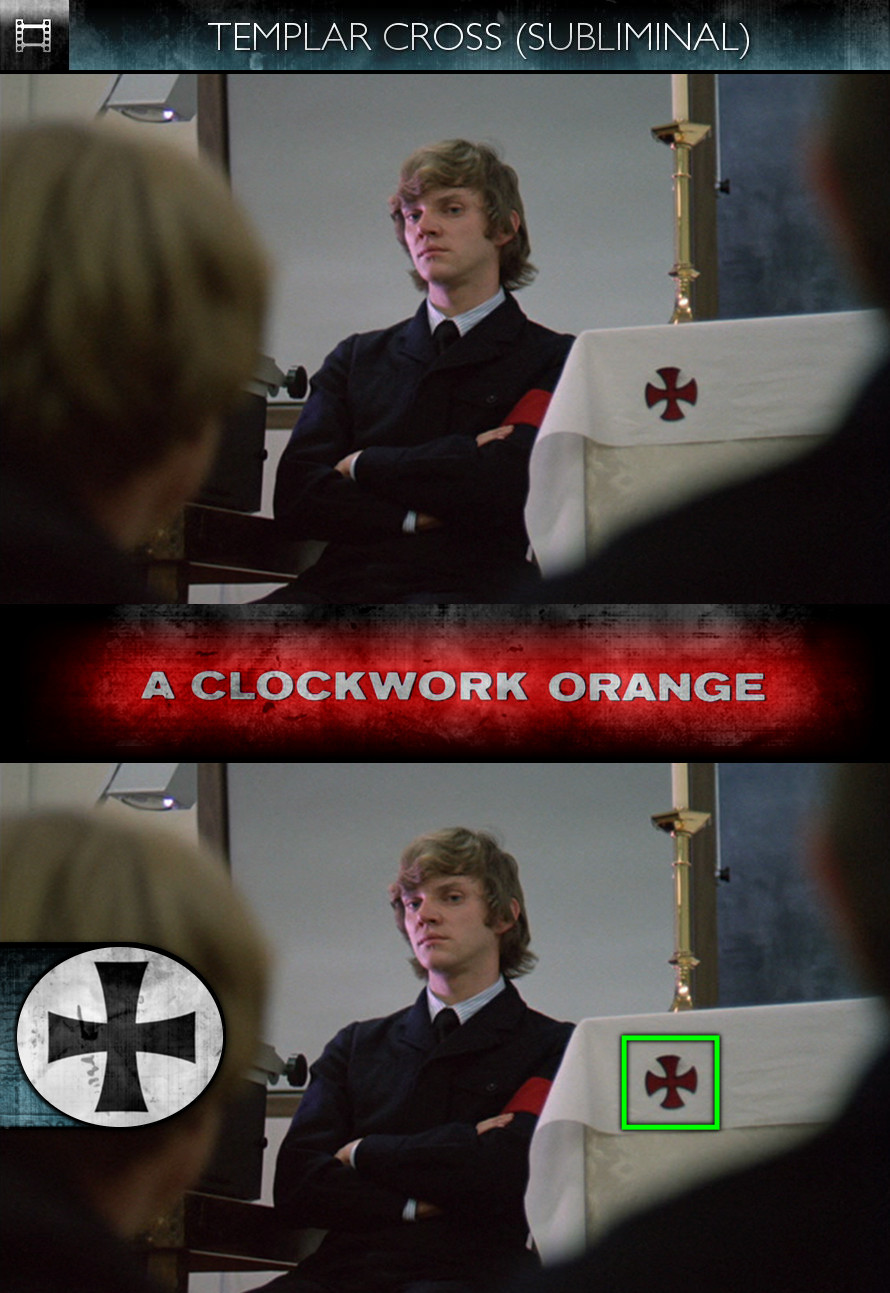 A Clockwork Orange (1971) - Templar Cross - Subliminal