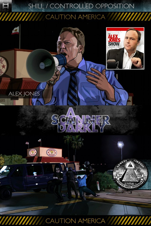 A Scanner Darkly (2006) - Alex Jones - Shill / Controlled Opposition