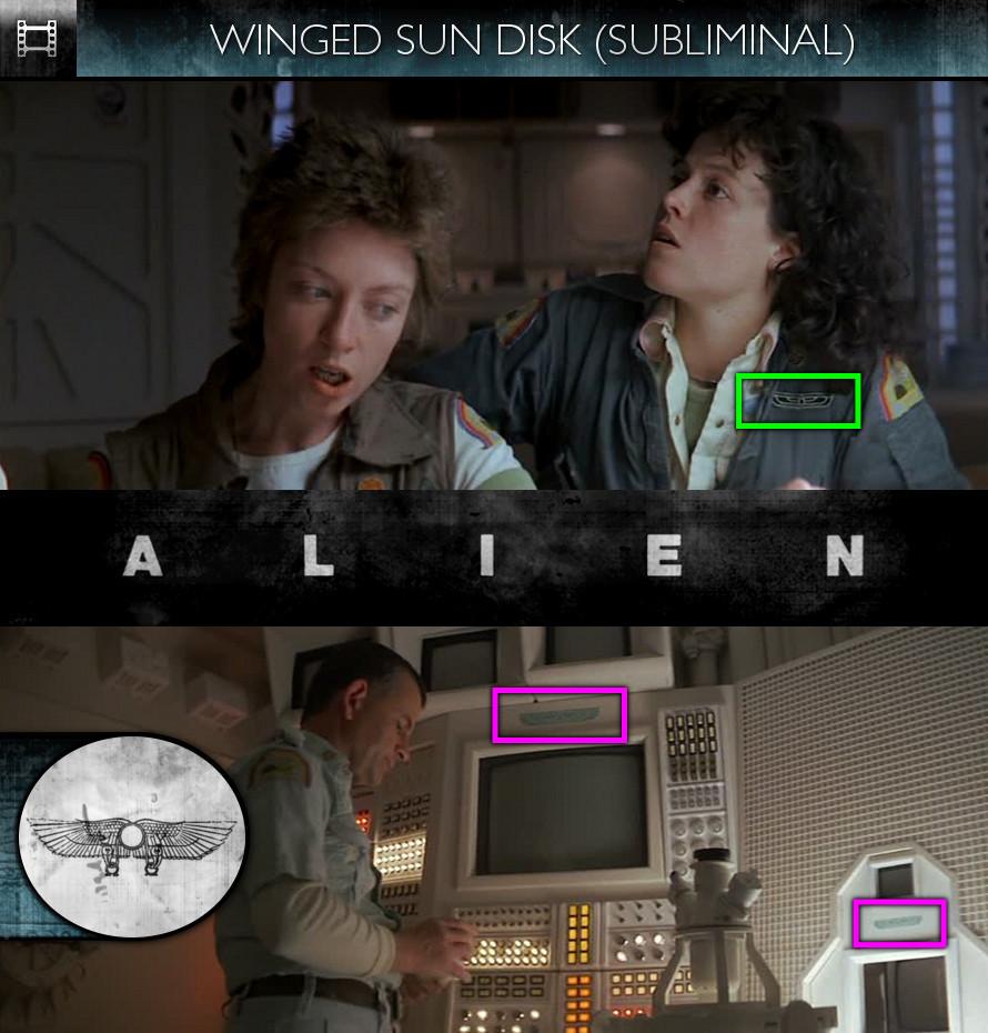 Alien (1979) - Winged Sun Disk - Subliminal