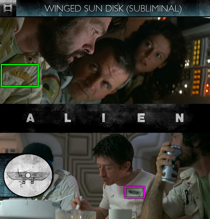 Alien (1979) - Winged Sun Disk - Subliminal