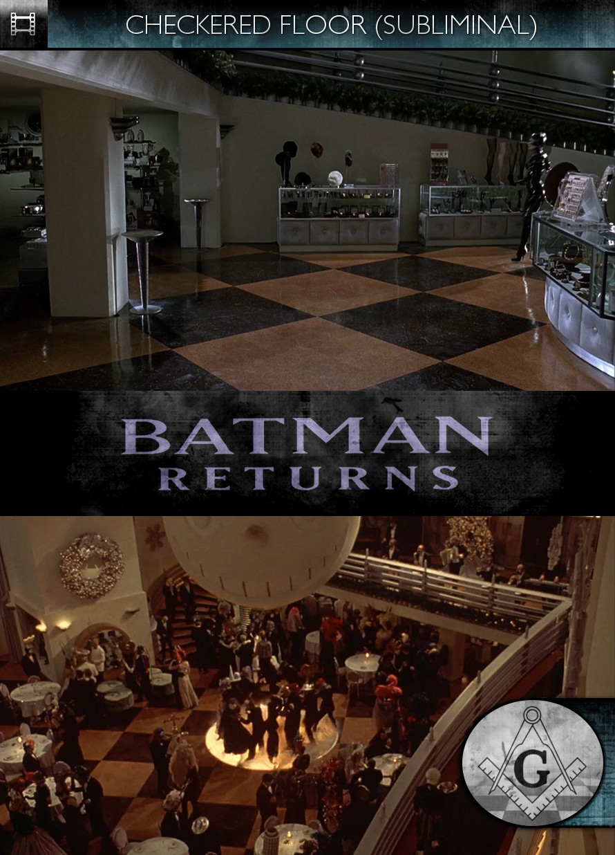 Batman Returns (1992) - Checkered Floor - Subliminal