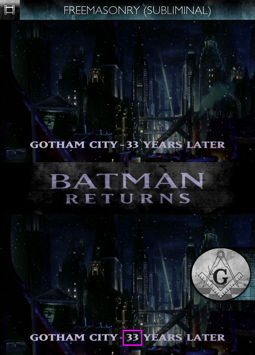 Batman Returns (1992) - Freemasonry - Subliminal