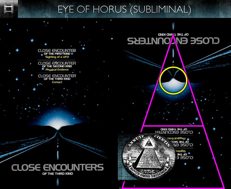 Close Encounters of the Third Kind (1977) - Poster - Eye of Horus - Subliminal