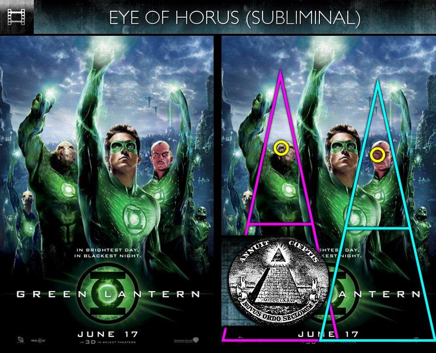 Green Lantern (2011) - Poster - Eye of Horus - Subliminal