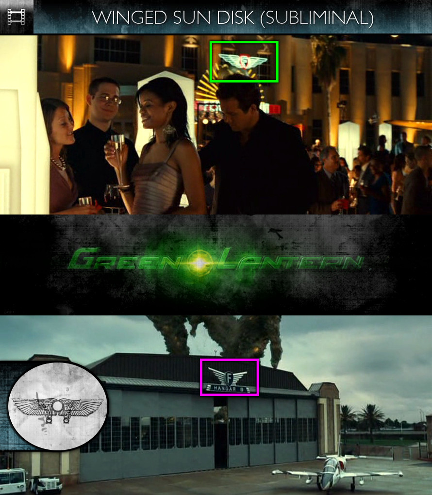 Green Lantern (2011) - Winged Sun-Disk - Subliminal