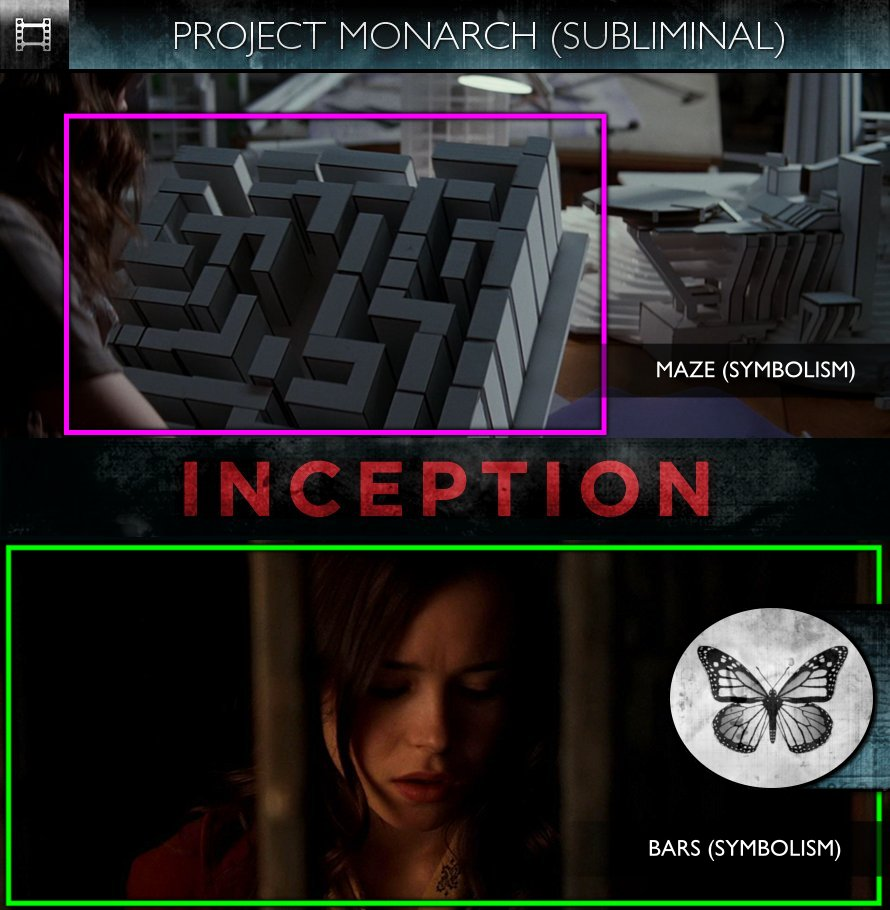 Inception (2010) - Project Monarch - Subliminal