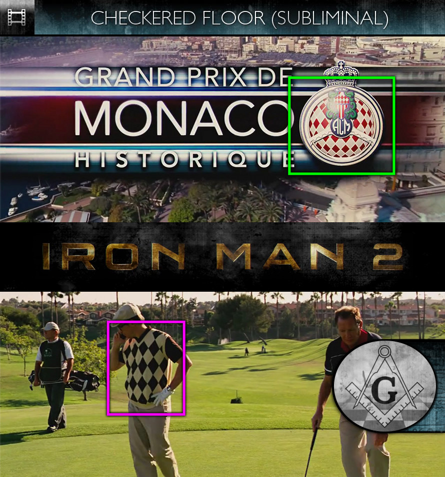 Iron Man 2 (2010) - Checkered Floor - Subliminal