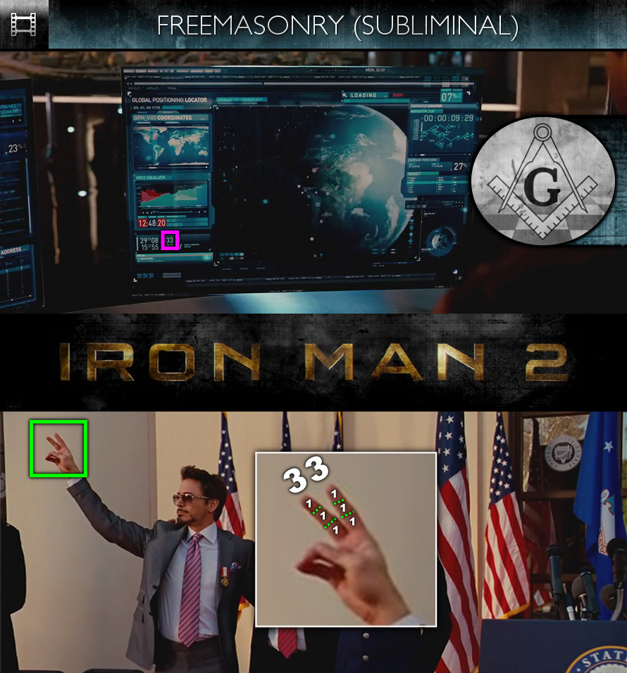 Iron Man 2 (2010) - Freemasonry - Subliminal