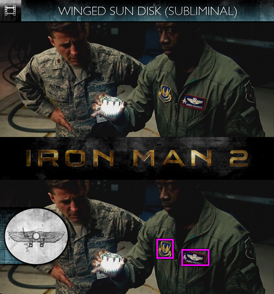 Iron Man 2 (2010) - Winged Sun-Disk - Subliminal