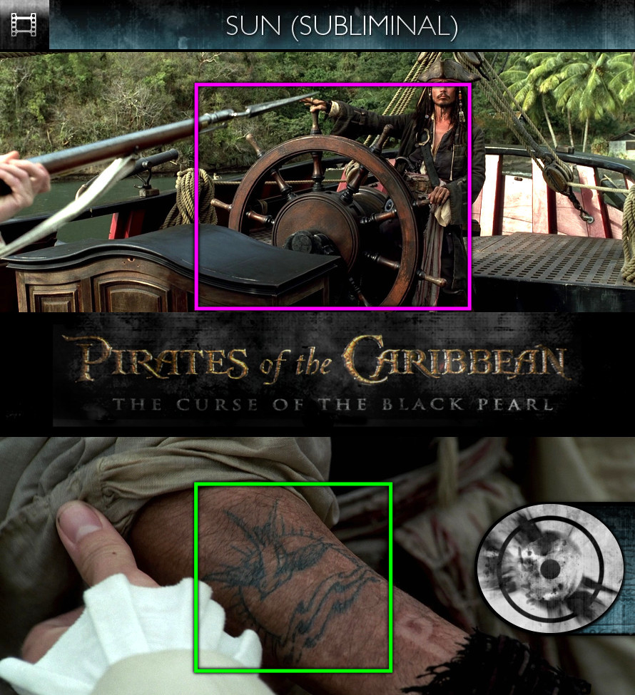 Pirates of the Caribbean: The Curse of the Black Pearl (2003) - Sun/Solar - Subliminal