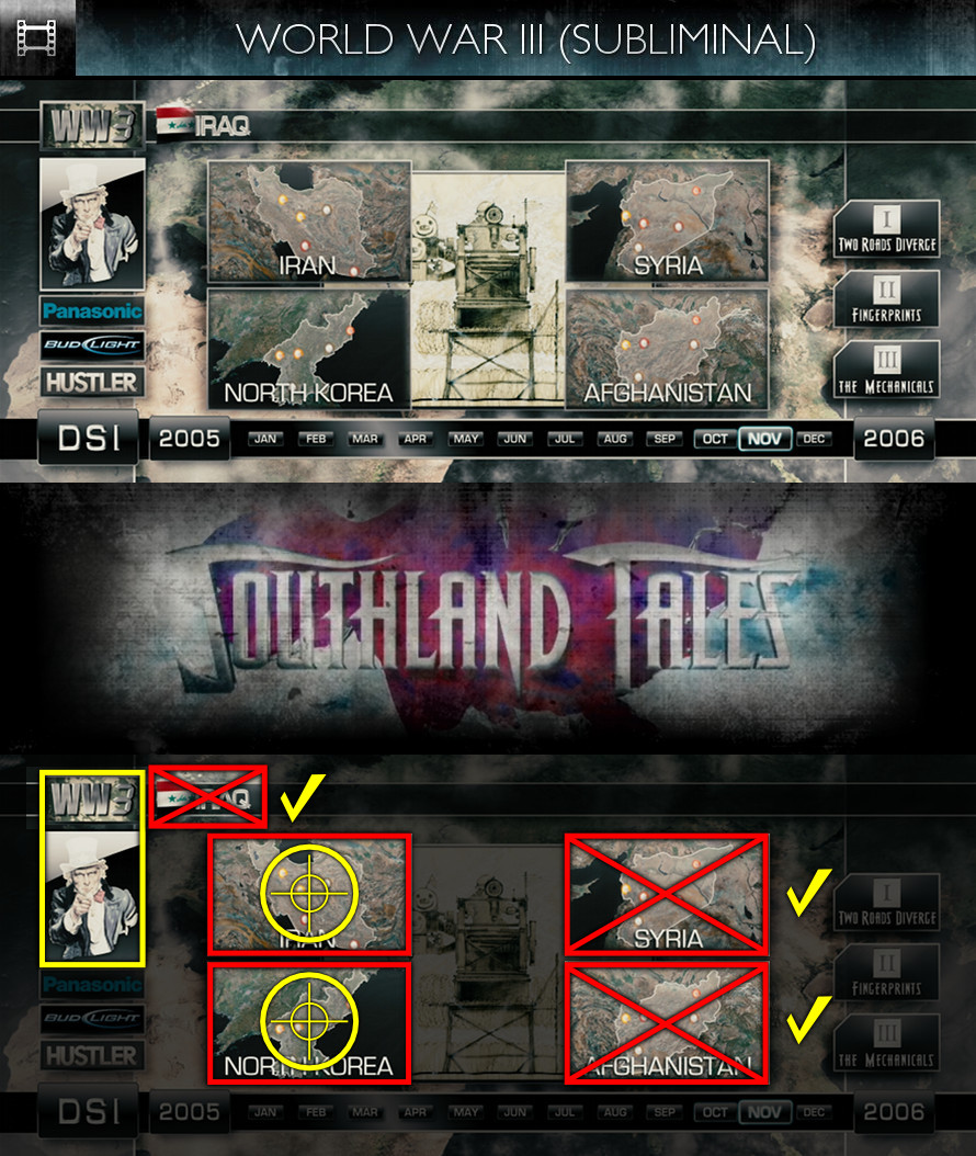 Southland Tales (2006) - World War III - Subliminal
