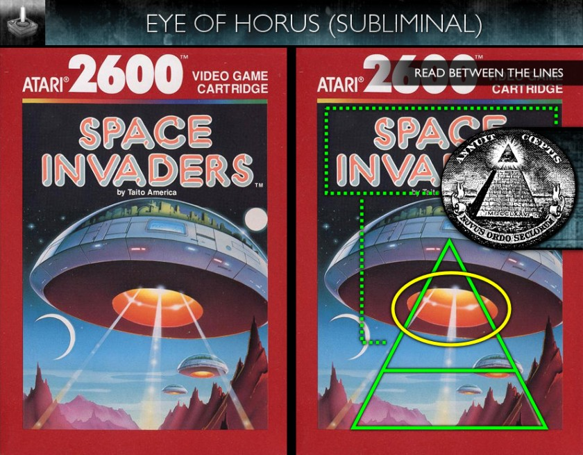 Space Invaders (1978) - Atari 2600 Box Art - Eye of Horus - Subliminal