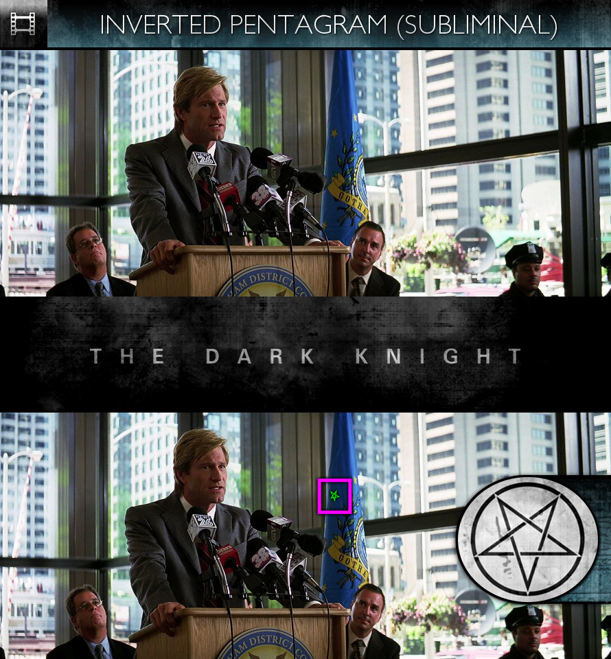 The Dark Knight (2008) - Inverted Pentagram - Subliminal