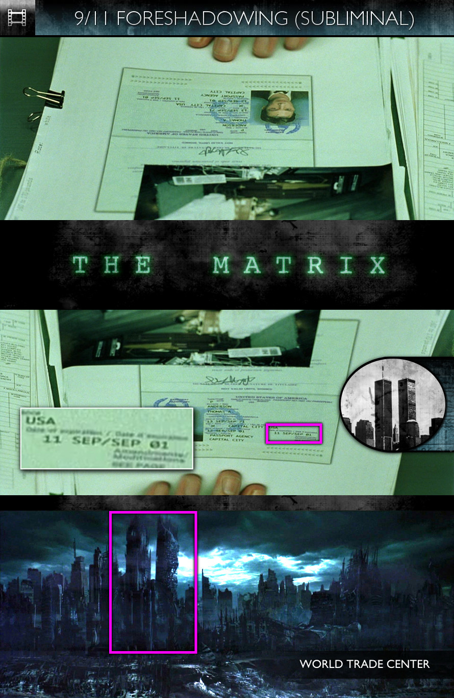 The Matrix (1999) - 9/11 Foreshadowing - Subliminal