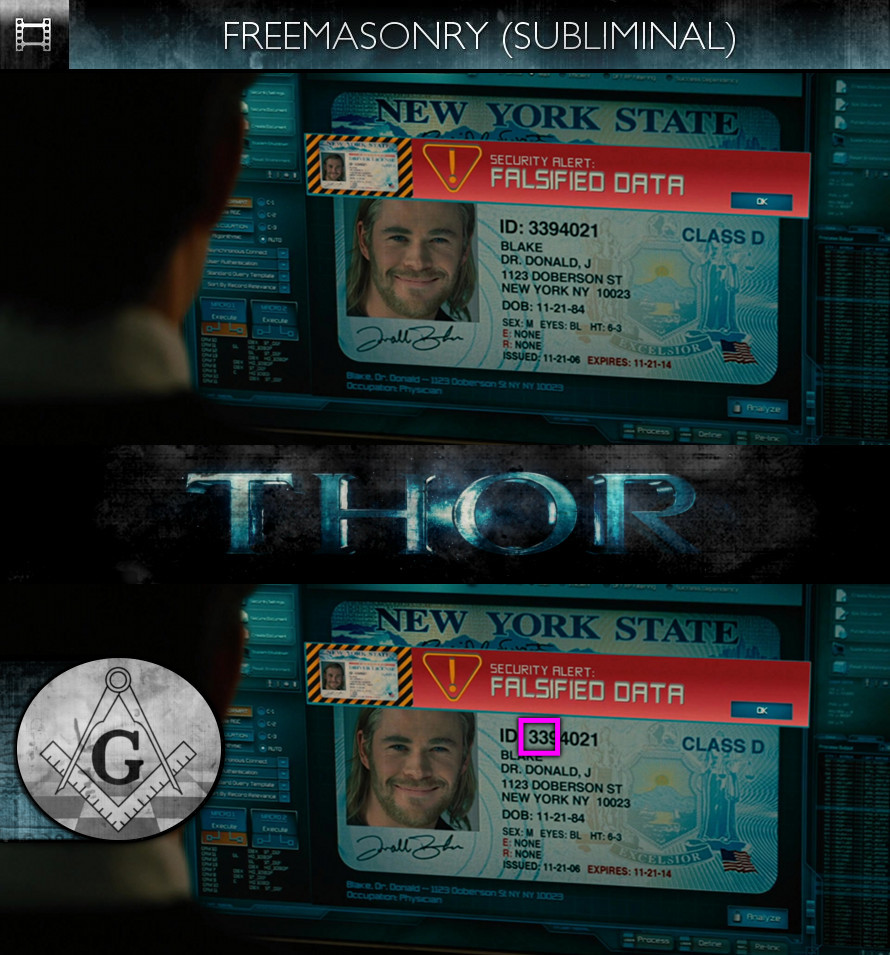 THOR (2011) - Freemasonry - Subliminal