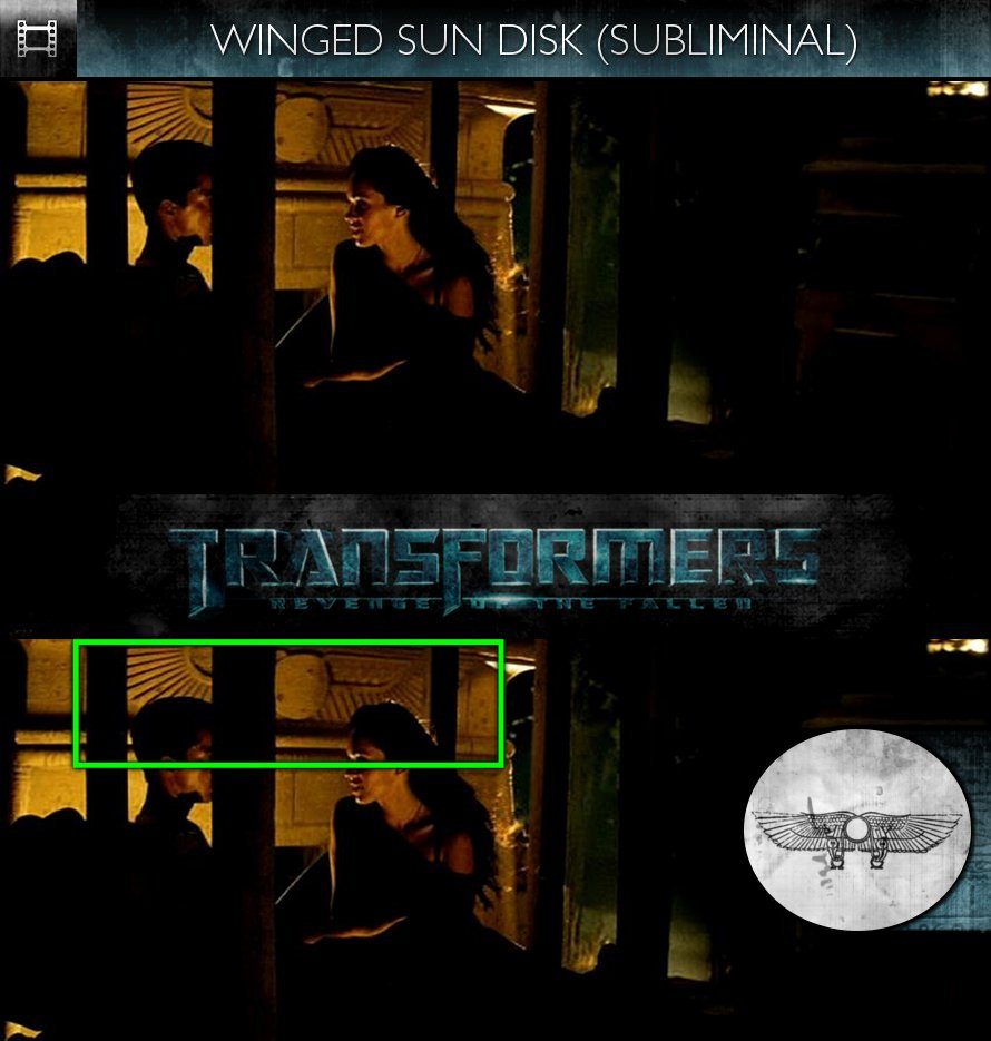 Transformers: Revenge of the Fallen (2009) - Winged Sun Disk - Subliminal