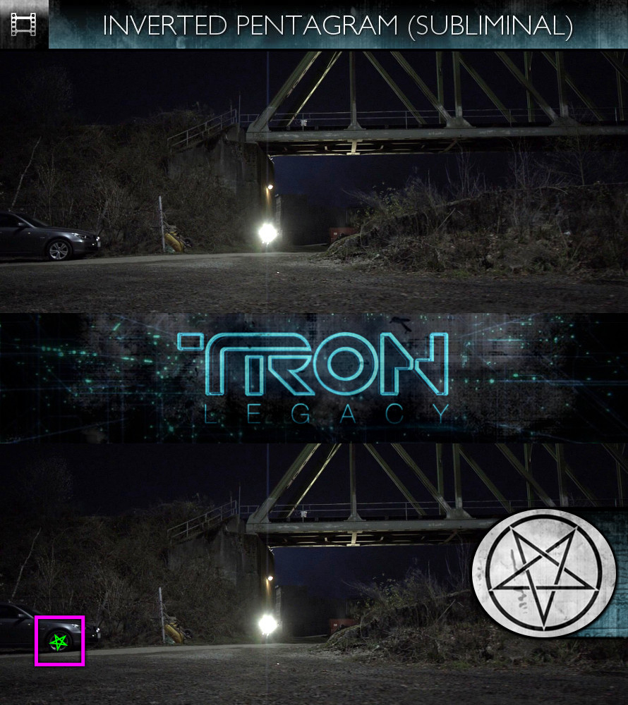 TRON Legacy (2010) - Inverted Pentagram - Subliminal