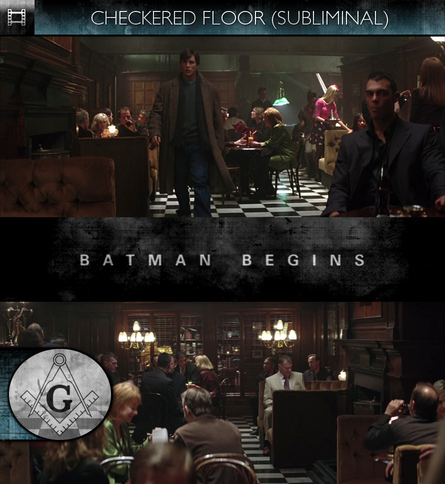 Batman Begins (2005) - Checkered Floor - Subliminal