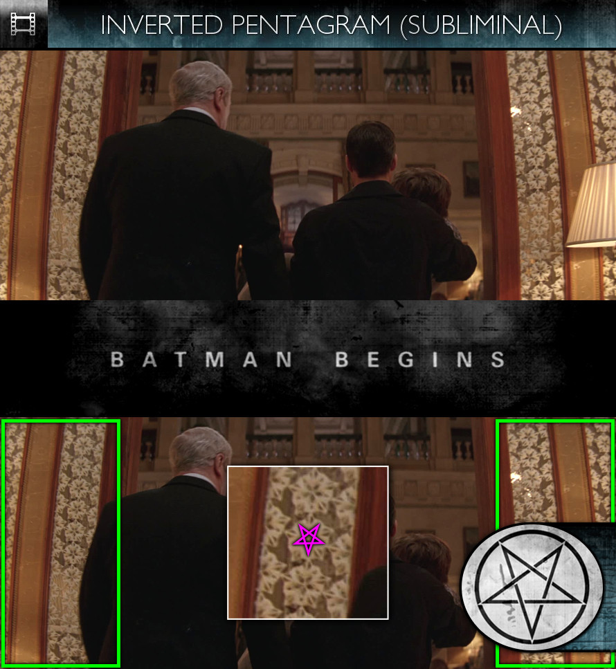 Batman Begins (2005) - Inverted Pentagram - Subliminal