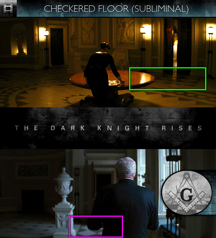 The Dark Knight Rises (2012) - Checkered Floor - Subliminal