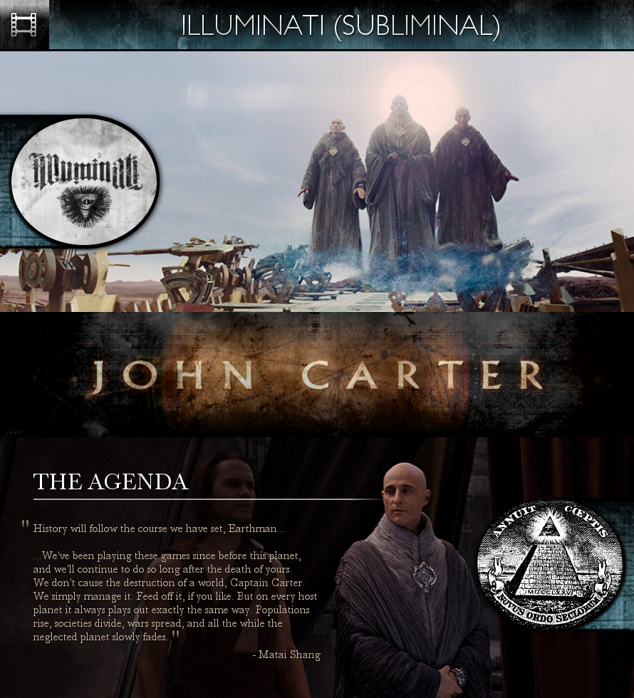 John Carter (2012) - Illuminati Agenda - Subliminal