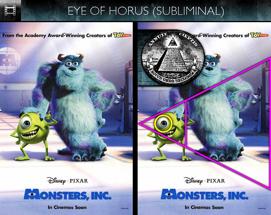 Monsters Inc. (2001) - Poster - Eye of Horus - Subliminal
