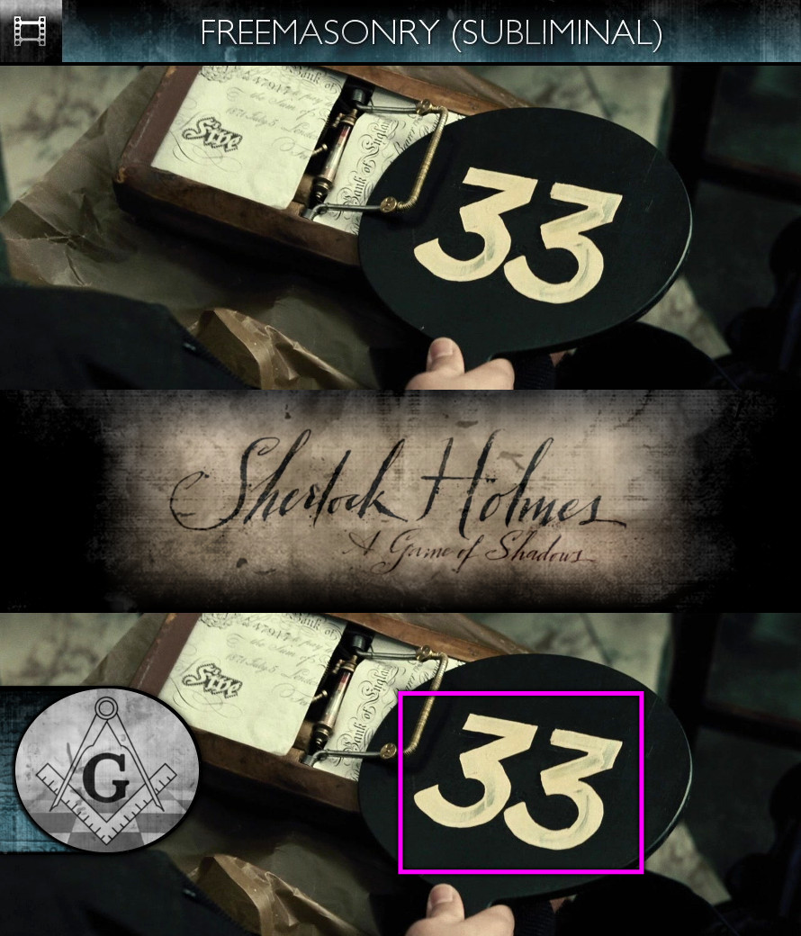 Sherlock Holmes - A Game of Shadows (2011) - Freemasonry - Subliminal