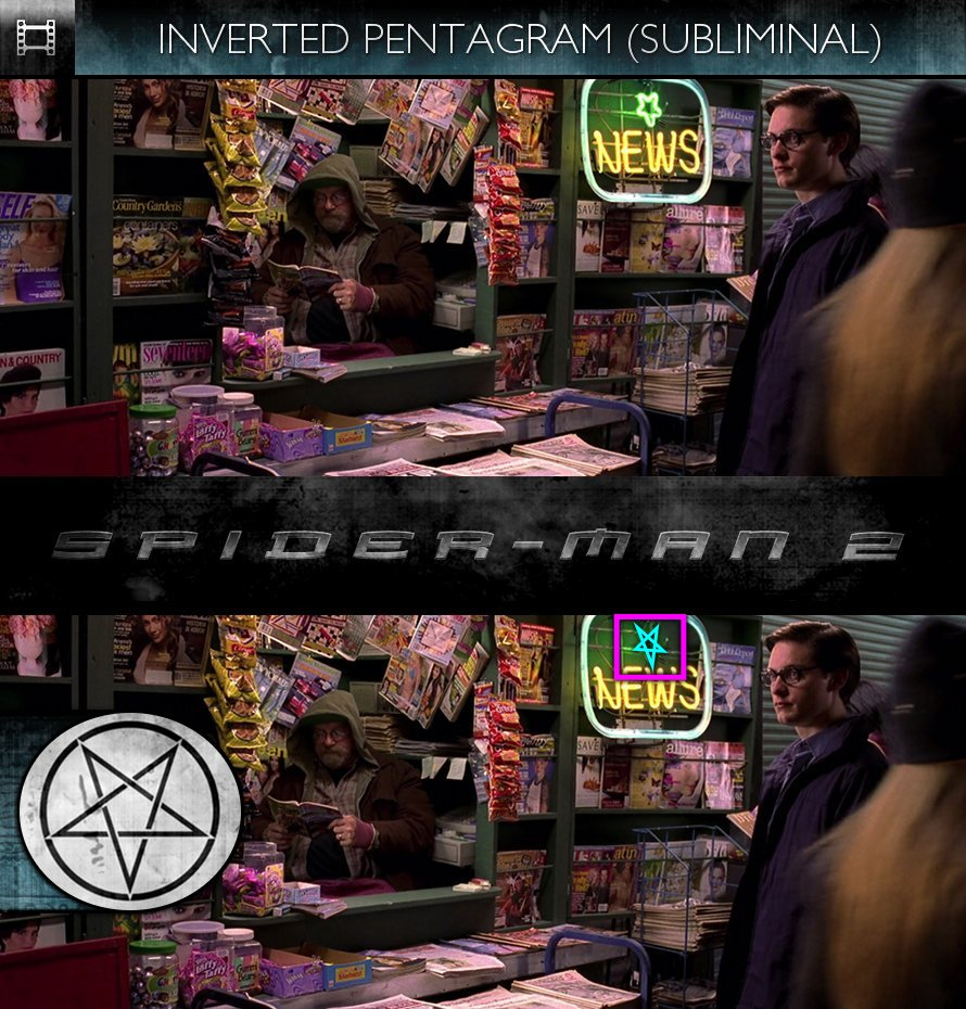Spider-Man 2 (2004) - Inverted Pentagram - Subliminal