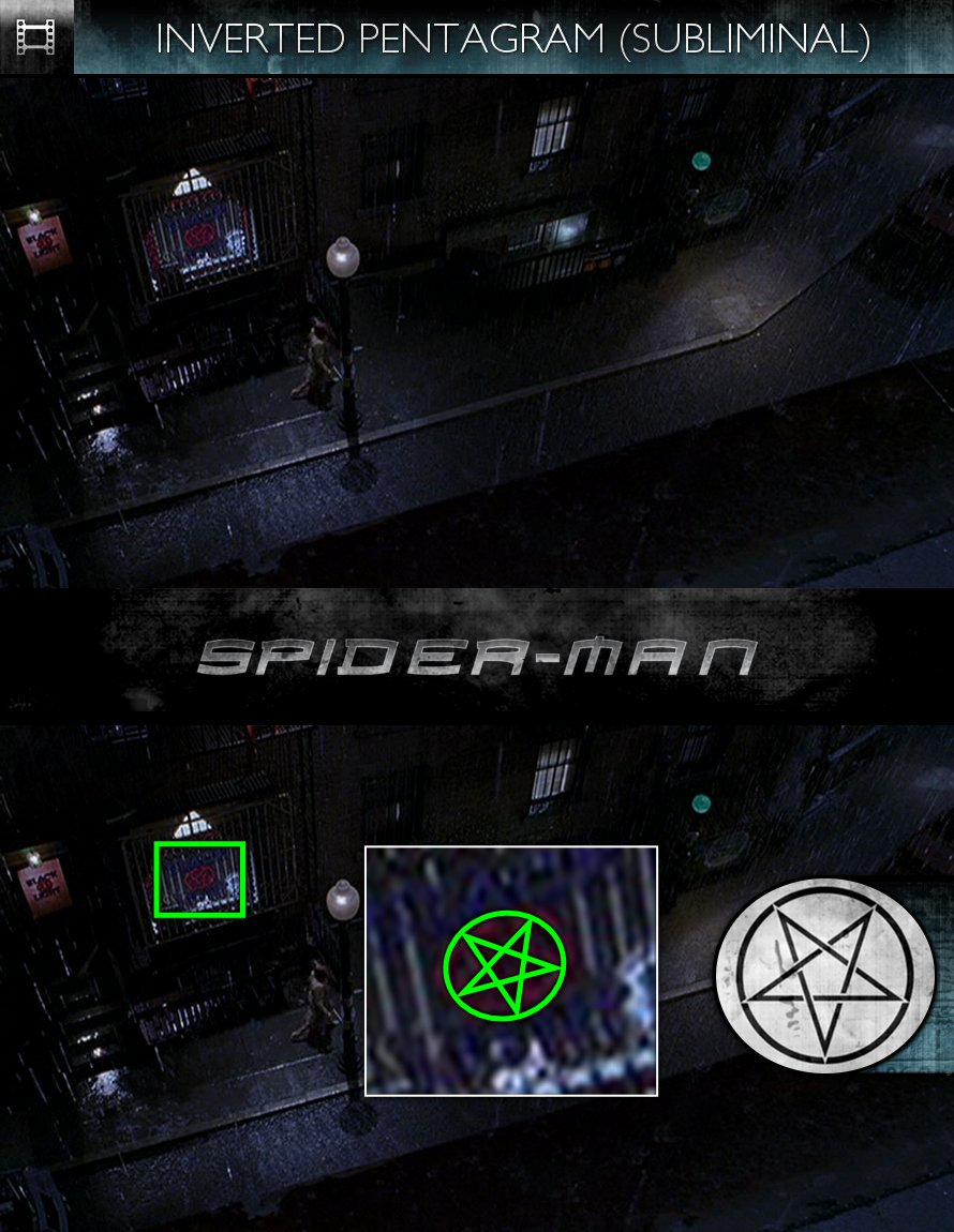 Spider-Man (2002) - Inverted Pentagram - Subliminal