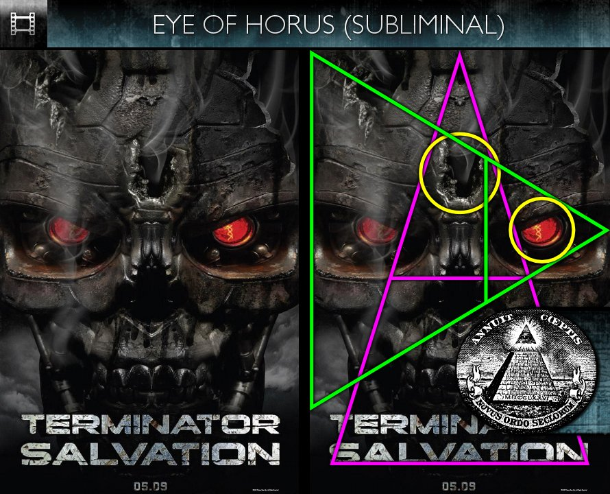 Terminator Salvation (2009) - Poster - Eye of Horus - Subliminal