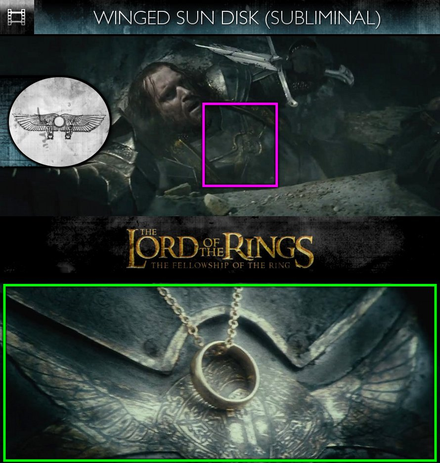 The Lord Of The Rings: The Fellowship Of The Ring (2001) - Winged Sun Disk - Subliminal