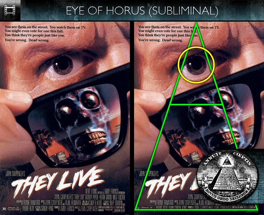They Live (1988) - Poster - Eye of Horus - Subliminal