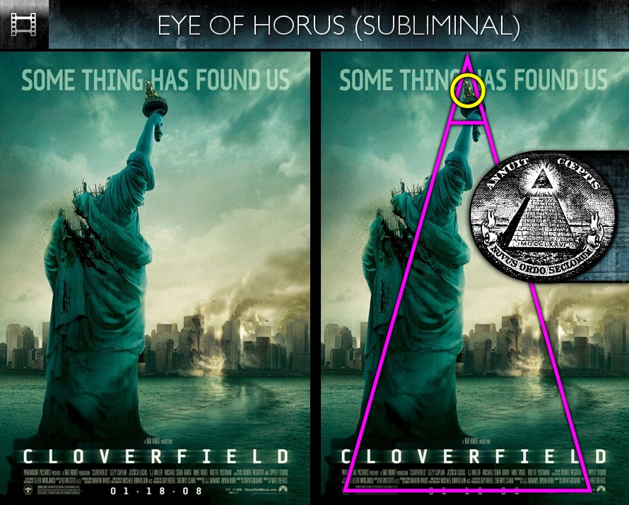 Cloverfield (2008) - Poster - Eye of Horus - Subliminal