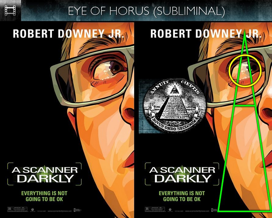 A Scanner Darkly (2006) - Poster - Eye of Horus - Subliminal