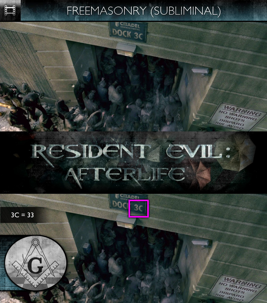 Resident Evil: Afterlife (2010) - Freemasonry - Subliminal