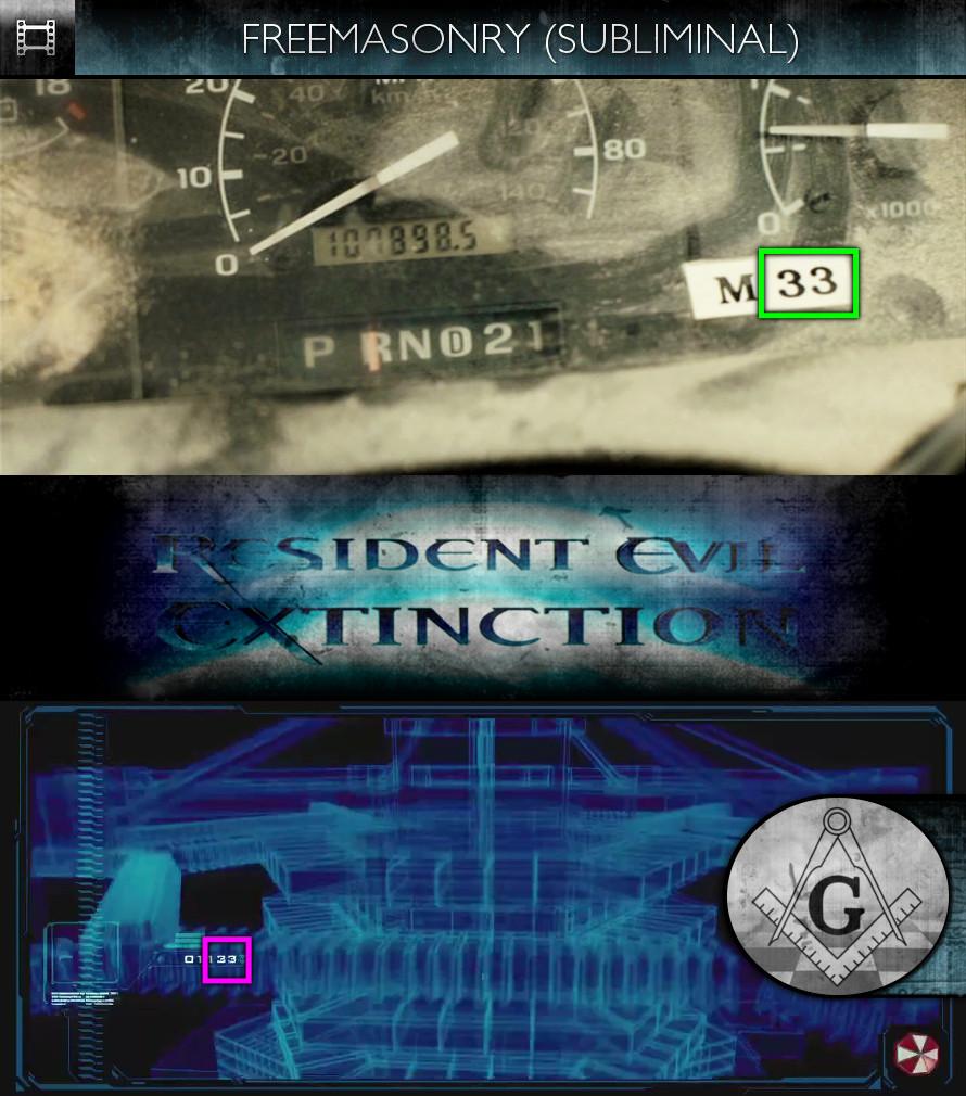 Resident Evil: Extinctionn (2007) - Freemasonry - Subliminal