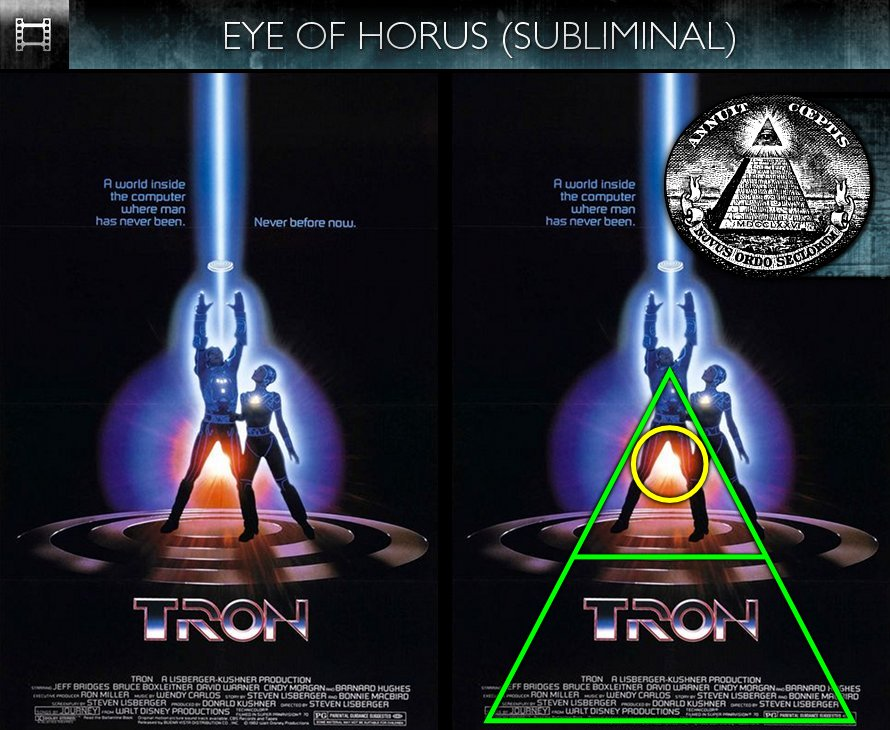 TRON (1982) - Poster - Eye of Horus - Subliminal