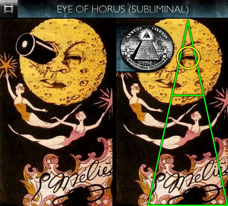 A Trip To The Moon (1902) - Poster - Eye of Horus - Subliminal