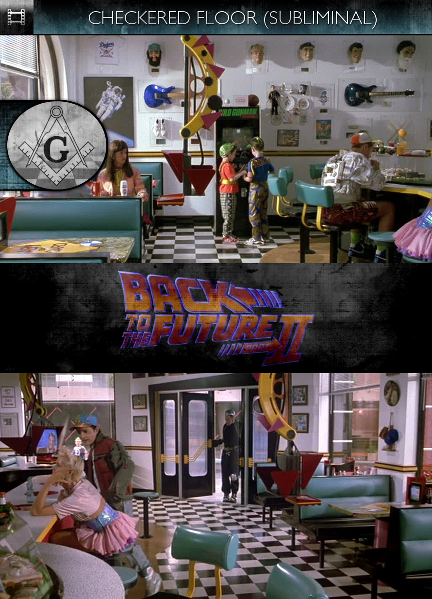 Back to the Future, Part 2 (1989) - Checkered Floor - Subliminal
