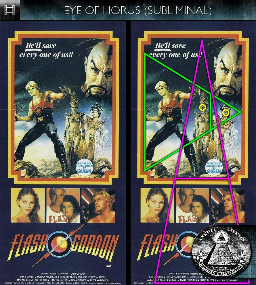 Flash Gordon (1980) - Poster - Eye of Horus - Subliminal