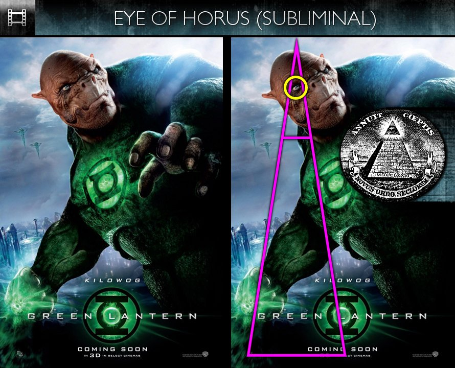 Green Lantern (2011) - Poster - Eye of Horus - Subliminal