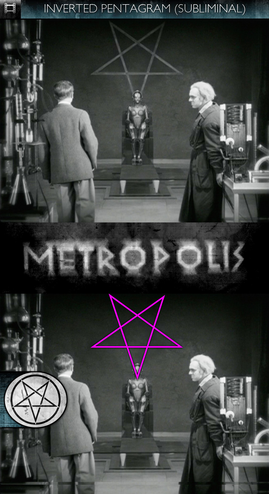 Metropolis (1927) - Inverted Pentagram - Subliminal