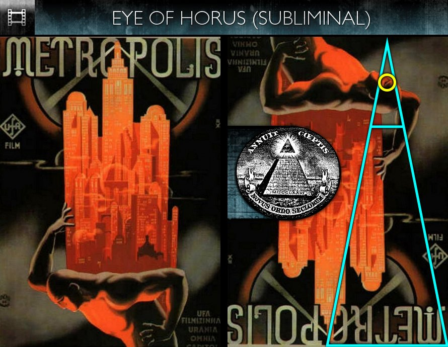 Metropolis (1927) - Poster - Eye of Horus - Subliminal