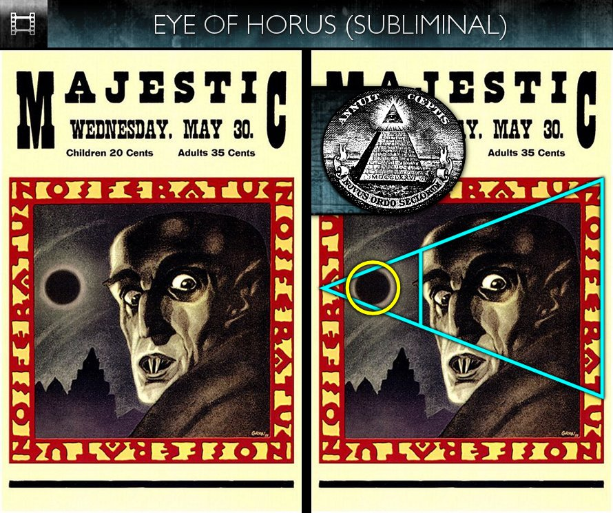 Nosferatu (1922) - Poster - Eye of Horus - Subliminal