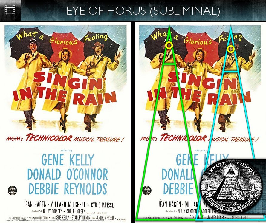 Singin' In The Rain (1952) - Poster - Eye of Horus - Subliminal