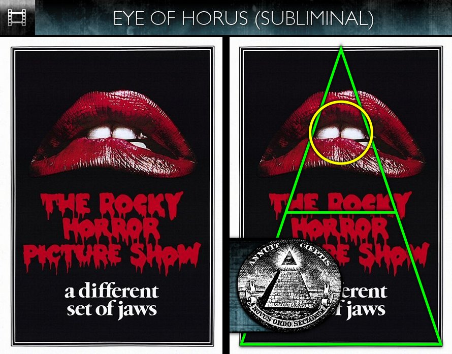 The Rocky Horror Picture Show (1975) - Poster - Eye of Horus - Subliminal