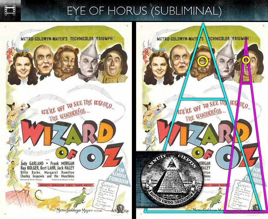 The Wizard of Oz (1939) - Poster - Eye of Horus - Subliminal