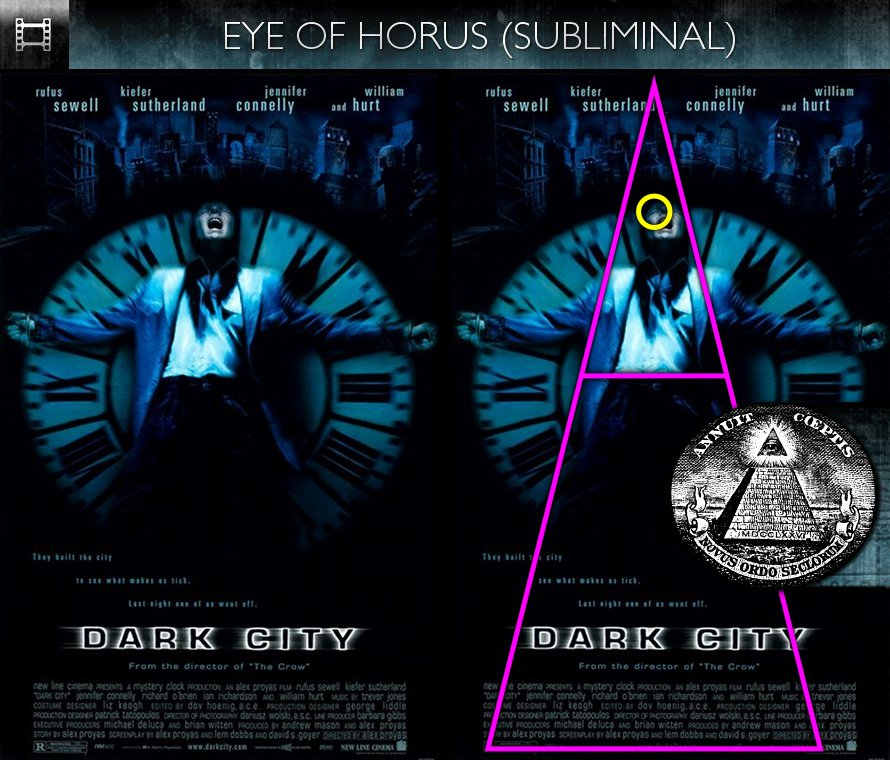 Dark City (1998) - Poster - Eye of Horus - Subliminal
