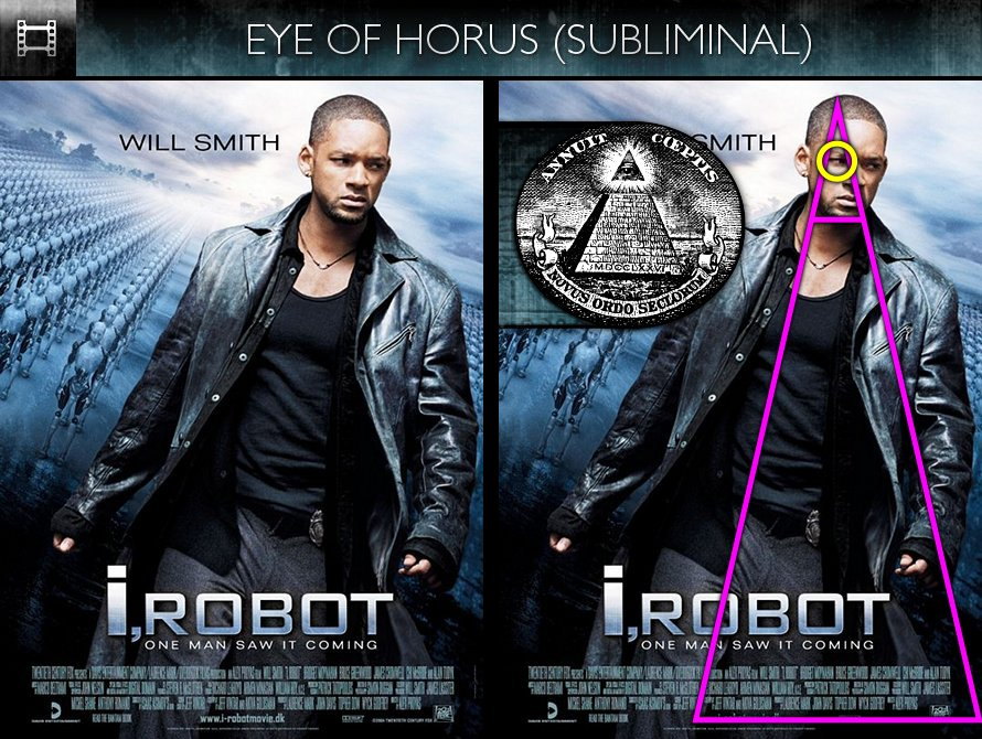 i robot 2004 poster eye of horus subliminal hollywood subliminals. Black Bedroom Furniture Sets. Home Design Ideas
